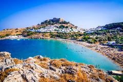Free Lindos, Rhodes, Greece Royalty Free Stock Image - 138370536