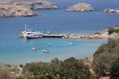 Lindos Rhodes Greece Stock Image