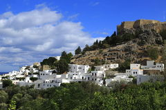 Lindos, Rhodes, Greece Stock Photography
