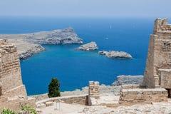 Lindos Rhodes Greece Royalty Free Stock Photos