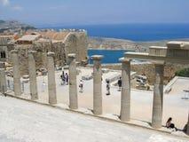 Lindos Rhodes Greece Stock Photography