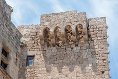 Lindos Rhodes Greece Fortress Royalty Free Stock Images
