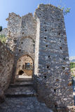 Mystras Castle Ruins Greece Royalty Free Stock Photography