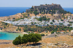 Lindos, Rhodes, Greece Stock Images
