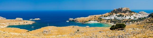 Lindos Rhodes Greece Stock Photos