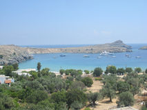 Lindos Rhodes Greece Stock Image