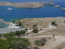Lindos Rhodes Greece Royalty Free Stock Photo
