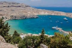Lindos Rhodes Greece Stock Photo