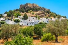 Lindos. Rhodes, Greece Royalty Free Stock Image