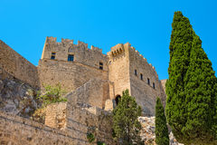 Lindos Rhodes Grekland Arkivbilder