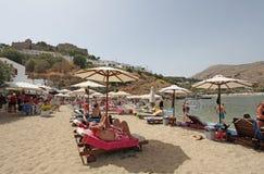 Lindos Rhodes island, Greece Stock Photos