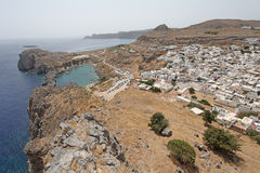 Lindos Rhodes island, Greece Royalty Free Stock Images