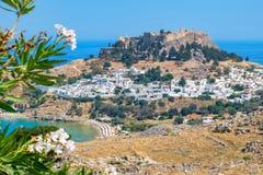 Lindos. Rhodes Island, Greece Royalty Free Stock Photos