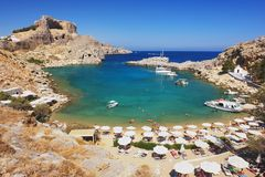 Lindos, Rhodes Royalty Free Stock Photos