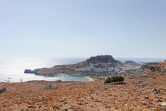 Lindos Rhodes wyspa, Grecja Fotografia Royalty Free