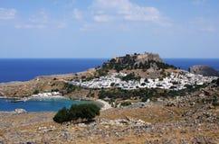 Lindos - Rhodos, Griechenland Lizenzfreies Stockbild