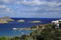 Lindos, Rhodos, Griechenland stockfotos