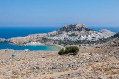 Lindos Rhodos Griechenland Stockfotos