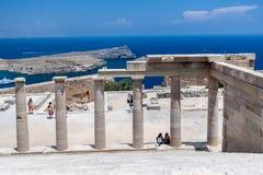 Lindos Rhodos Griekenland Stock Afbeelding