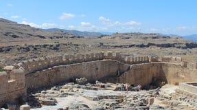 Lindos, Rhodos, Griekenland stock foto