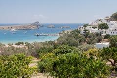 Lindos Rodi Grecia Fotografie Stock