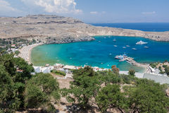 Lindos Rodi Grecia Immagine Stock Libera da Diritti