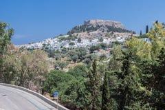 Lindos Rodi Grecia Immagine Stock