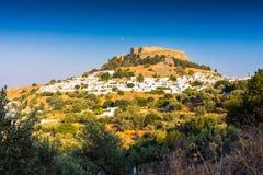 Lindos Rodi Grecia Fotografia Stock