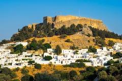 Lindos Rodi Grecia Immagini Stock Libere da Diritti