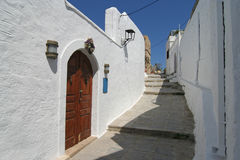Lindos Street Stock Photography