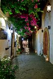 Lindos street, island of Rhodes Greece Stock Images