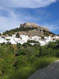 Lindos Town Stock Photo
