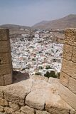 Lindos Town from the Acropolis Stock Photos
