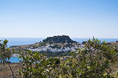 Lindos town on the Island of Rhodes Greece Europe Stock Photo