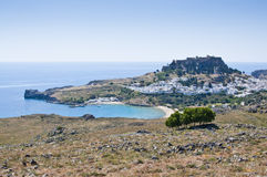Lindos town on the Island of Rhodes Greece Europe Royalty Free Stock Photography