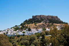 Lindos town on the Island of Rhodes Greece Europe Royalty Free Stock Image