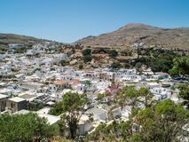 Lindos town in Rhodes, Greece Royalty Free Stock Photo