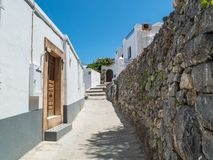 Lindos town in Rhodes, Greece Stock Photography