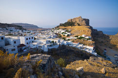 Lindos town, Rhodes island, Greece Royalty Free Stock Photography
