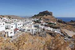 Lindos town. Rhodes island, Greece Stock Photography