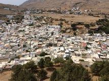 Lindos town, top view from Acropolis. Rhodes Stock Photos