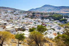 Lindos view from above Royalty Free Stock Photo