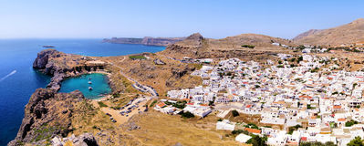 Lindos view, Greece Royalty Free Stock Photography