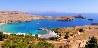 Lindos view, Greece Stock Image