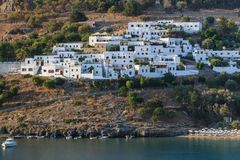 Lindos village, Greece Royalty Free Stock Photo