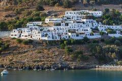 Lindos village, Greece. Lindos village on the Greek Island of Rhodes royalty free stock photo
