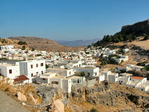The Lindos village on the island of Rhodes in Greece Stock Image