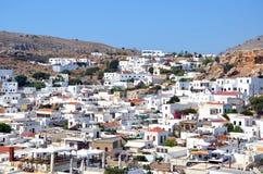Lindos. Vista dall'acropoli Immagine Stock Libera da Diritti