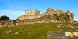Lindoso castle in National Park of Peneda Geres. Portugal stock photo