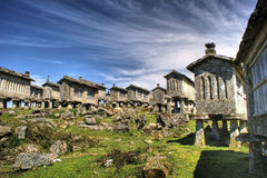 Lindoso granaries Royalty Free Stock Images